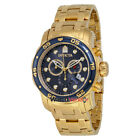 Invicta Pro Diver Chronograph Blue Dial 18kt Gold-plated Men's Watch 0073