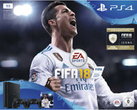 Artikelbild SONY PlayStation 4 1TB Schwarz + FIFA 18 + 2. Controller + PS Plus 14 Tage