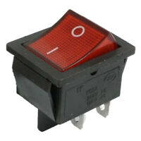 KCD4 DPST ON-OFF 4 Pin Terminals Rocker Boat Switch 16A AC 250V 25 x 31mm