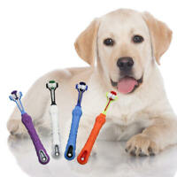 Three Sided Pet Cleaning Brush For Dogs Cats ToothBrush Teeth Care Dog QAT