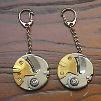 Portable Coin EDC Colourful Keyring Necklace Stainless Steel Pocket Claw EXJ