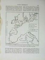 Old Antique Print Russo-Japanese War Map Baltic Fleet Kronstadt Tangier