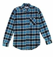 American Apparel NEW Blue Mens Size Small S Button Down Plaid Shirt