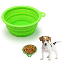 1pc Silicone Collapsible Travel Silicone Portable Pet Food Dog Water Bo HIY
