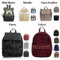 Womens Designer Style Backpack Faux Leather Girls Rucksack School Shoulder Bag