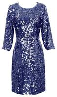J Crew Collection Women's Starry Night Gray Sequin Cocktail Dress 6 E0197