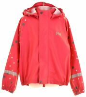 HELLY HANSEN Girls Waterproof Jacket 6-7 Years Pink Polyester  CL18