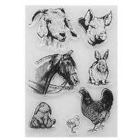 Transparent Silicone Clear Rubber Stamp Cling DIY Scrapbooking Card Craft Animal