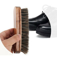 New Universal Bristle Horse Hair Shoe Shine Polish Clean Buffing Brush Wooden