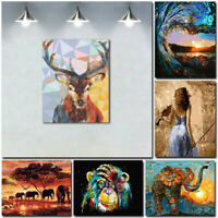 Unframed Animal Art Oil Painting Canvas Picture Home Wall Room Decor Kits Craft