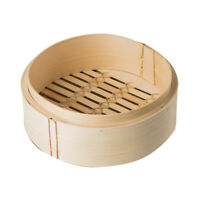 Bamboo Steamer For Dumplings, Vegetables, Chicken, Fish Steam Basket Natural f h