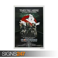 GHOSTBUSTERS - CLASSIC 80S (ZZ040)  MOVIE POSTER Poster Print Art A0 A1 A2 A3