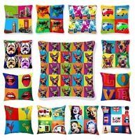Luxury Cushion Covers Digital Printed Square Pillow Case Retro Pop Art Design