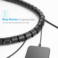 Plastic USB Charge Cable Holder Desk Cable Winder Clips Organizer Cord Managemen