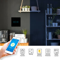LED Smart WiFi Smart Timing Light Switch Wall APP Control Touch Panel w/Bulb