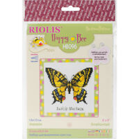 "RIOLIS Counted Cross Stitch Kit 5""X5""-Swallowtail Butterfly (14 Count)"