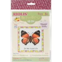 "RIOLIS Counted Cross Stitch Kit 5""X5""-Nymphalidae Butterfly (14 Count)"