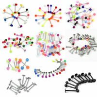 Wholesale Bulk lots Body Piercing Jewelry Belly Navel Tongue Bar Ring Mixed YIK