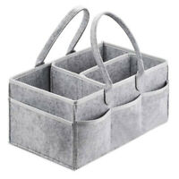Baby Diaper Caddy Portable Foldable Durable Nursery Essentials Storage Bas L9T2