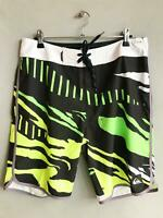 "Quiksilver Mens SWELL REMIX 19"" BOARDSHORT Boardies Shorts Mens Size 32 Lime"
