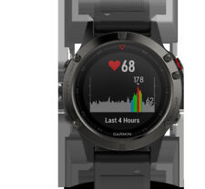 Artikelbild GARMIN FENIX 5 Smart Watch Silikon Android IOS Wasserdicht Grau/Schwarz
