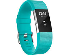 Artikelbild Fitbit Charge 2 Large Activity Tracker Kunststoff Türkis/Silber