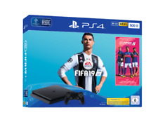 Artikelbild SONY PlayStation PS4 Slim 500GB Schwarz + EA Sports Fifa 19 NEU / OVP
