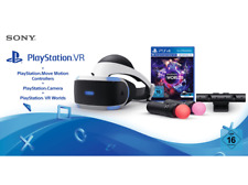 Artikelbild SONY PlayStation VR + Move Motion Controllers + Camera + VR Worlds - OVP!