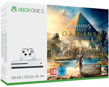 Artikelbild MICROSOFT Xbox One S 500GB Konsole + Assassins's Creed Origins Bundle WEISS NEU