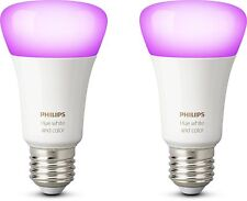 Artikelbild Philips HUE White and Color Ambiance 2x Single Bulb E27 #6866A9#