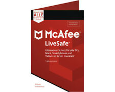 Artikelbild 1xMcAfee Livesafe 2018 für Windows Vista/7/8/8.1/10/MAC/Android/iOs
