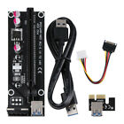 USB 3.0 Pci PCI-E Express 1x To 16x Extender Riser Card Adapter Power Cable US K
