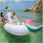 60-98 Giant Inflatable Swan Unicorn Rainbow Pool Float Water Float Children Raft